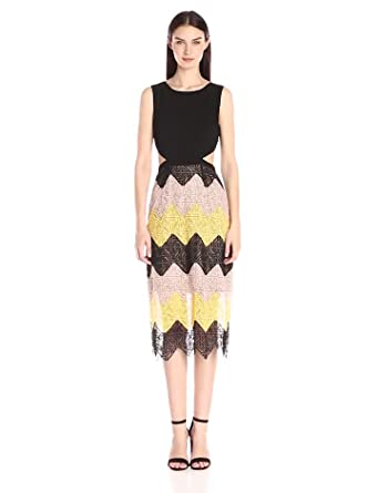 fe37bcfd03 Amazon.com  BCBGMax Azria Women s Ariela Cocktail Dress with Zig Zag ...