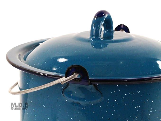 Pot Set 3pc esmalte horno holandés olla peltre olla tradicional 6.5qt 9Qt 10qt: Amazon.es: Hogar