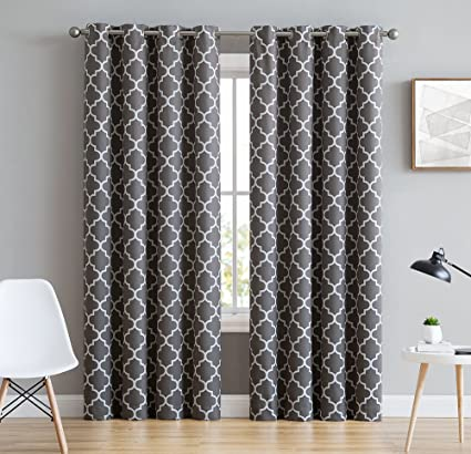 grommet affordable gray and patterns white grey colors curtains home window decor modern