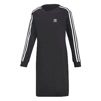 Adidas J TRF Dress - Vestido, Niña, Negro(Negro/Blanco)
