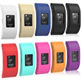 Fitbit Charge 2 Band Cover, MoKo [10 PACK] Soft Silicone Protector Sleeve for 2016 Fitbit Charge 2 HR Heart Rate + Fitness Wristband, No Tracker, No Band, 9 Colours