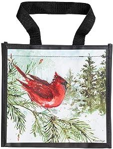 Brownlow Gifts Simple Inspirations Reusable Gift Tote Bag, 9.5 x 9-Inch, Cardinal Christmas