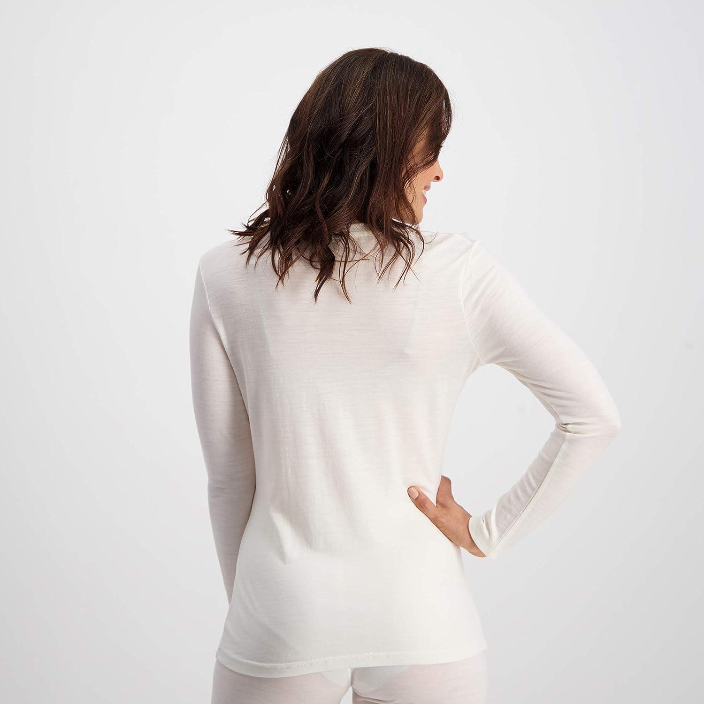 Ladies 100/% Pure Soft Merino Thermal Base Layer Wool Set Black or White