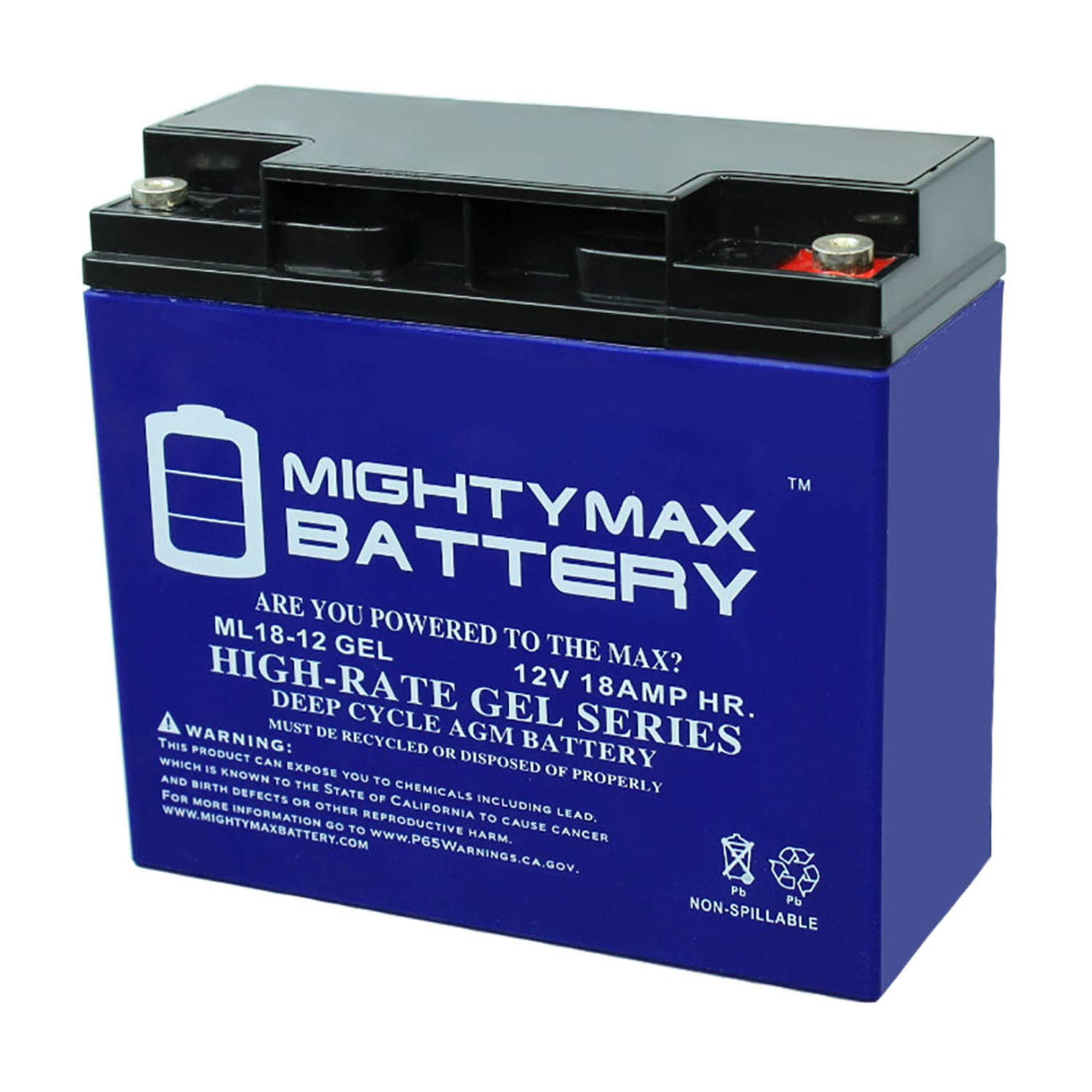 Mighty Max Battery 12V 18AH Gel Battery for E-Wheels EW-36 Mobility Scooter Brand Product by Mighty Max Battery
