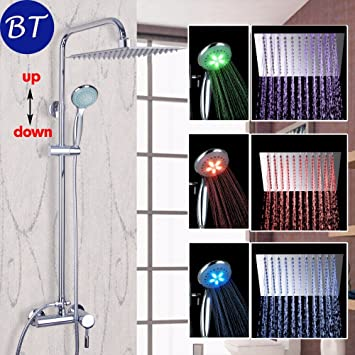 Luxurious shower LED Chrom Badezimmer Badewanne Dusche Wanne ...