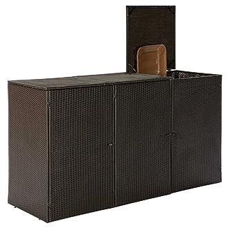 Gartenmoebel Mülltonnenbox Für 3 Tonnen Klein 66x189x109cm Bis 120