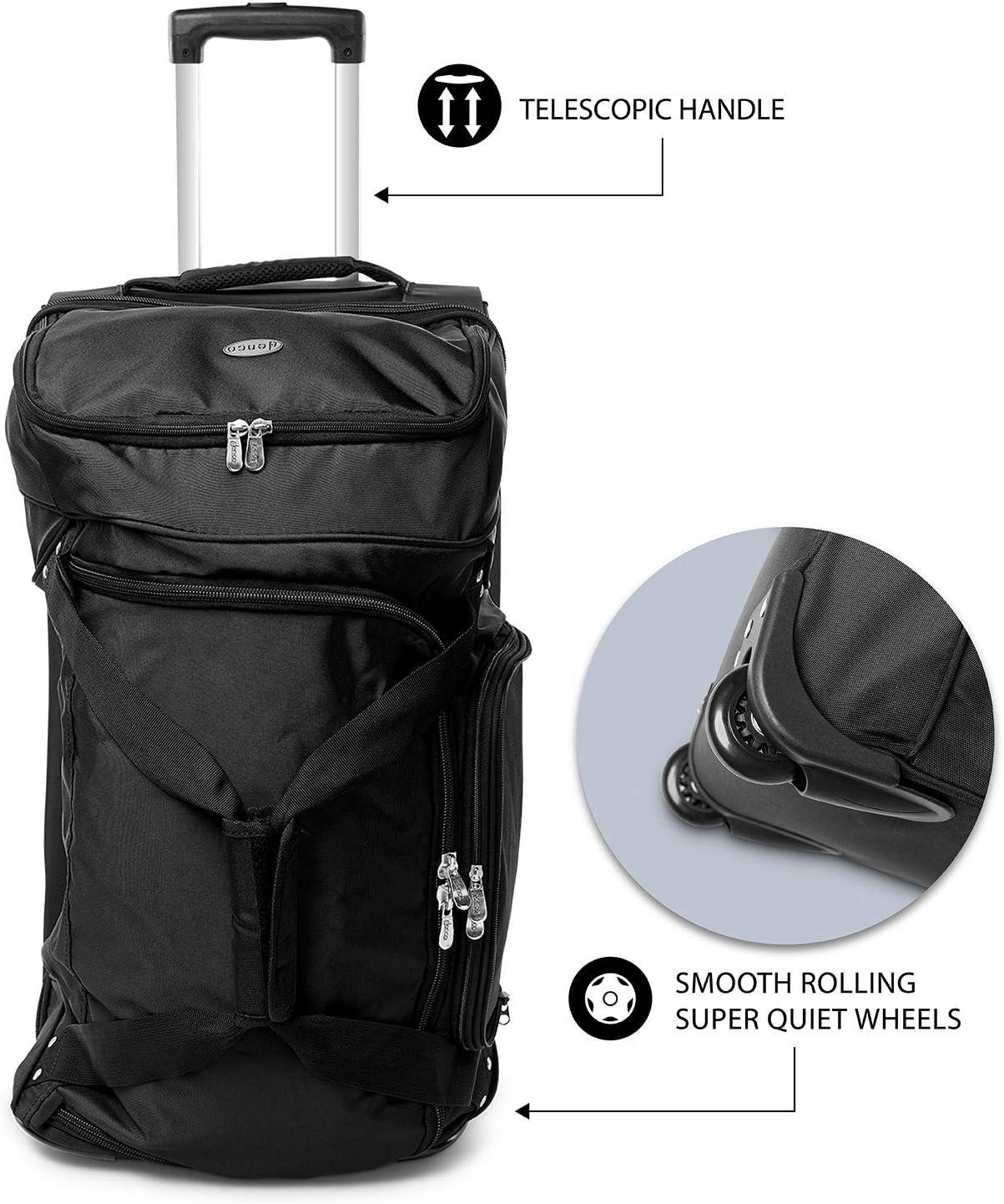 NCAA Iowa Hawkeyes Rolling Drop-Bottom Duffel Bag 27-inches