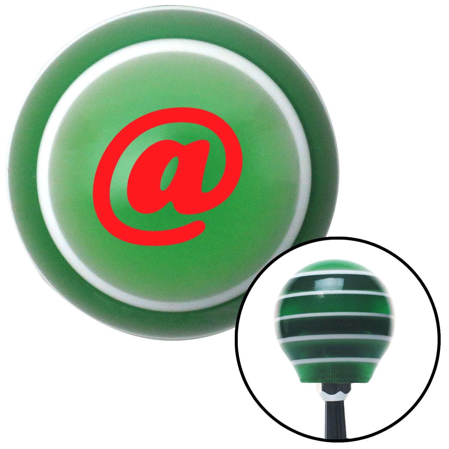 American Shifter 128881 Green Stripe Shift Knob with M16 x 1.5 Insert Red at Symbol
