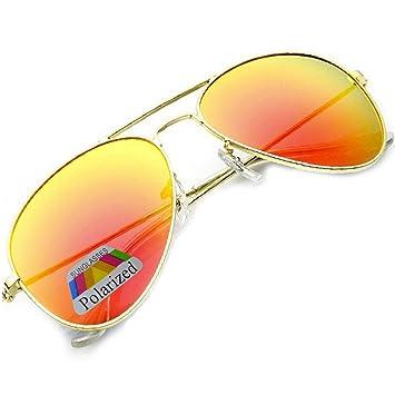 Gafas de sol estilo piloto, gafas de espejo a la moda ...