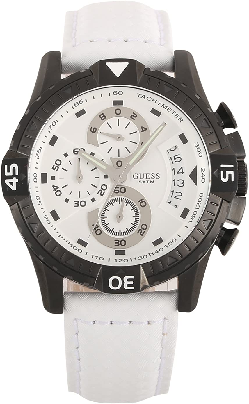 GUESS Men s W18547G2 Activator White Dial Watch