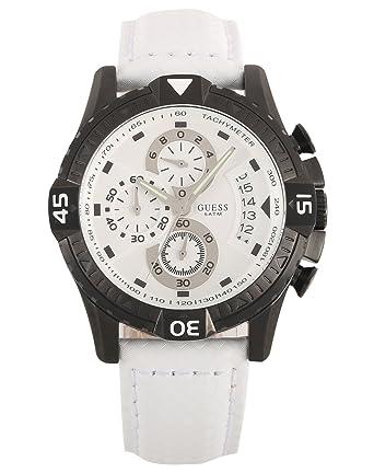 Guess ACTIVATOR W18547G2 - Reloj cronógrafo de cuarzo para hombre, correa de cuero color blanco