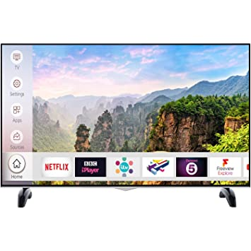 Electriq 43-inch 4K Ultra HD Dolby Vision HDR LED Smart TV with Freeview HD  and Freeview Play