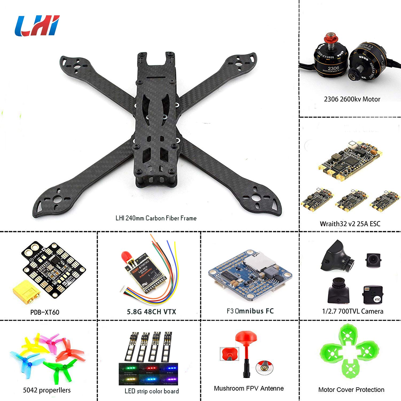 Lhi 240mm Fpv Quadcopter Frame Kit Arf 2306 2600kv Motor Wiring Configuration Blheli S 35a 32bit Esc F3 Omnibus Flight Controller With Camera Toys Games
