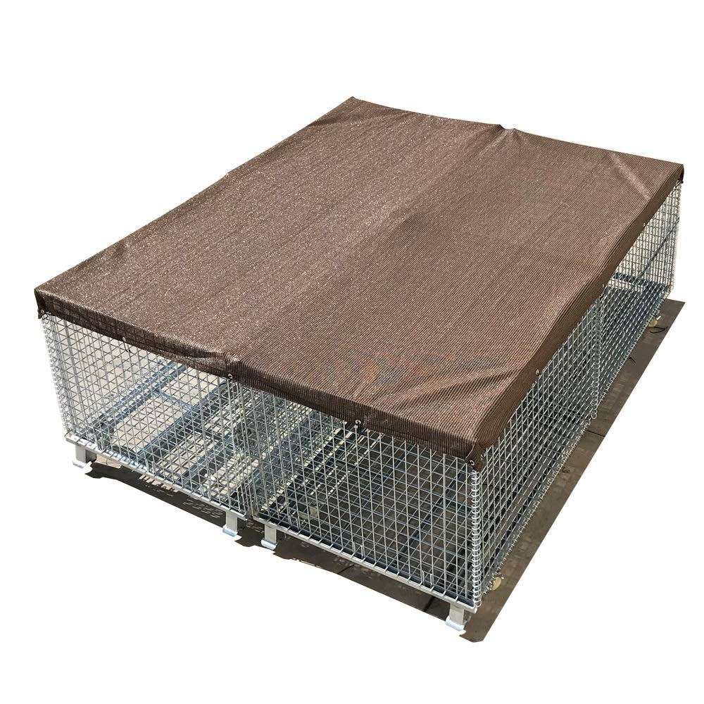 Mocha Brown 10' x 4' Mocha Brown 10' x 4' Alion Home Sun Block Dog Run & Pet Kennel Shade Cover Hems & Grommets(Dog Kennel not Included) (10' x 4', Mocha Brown)
