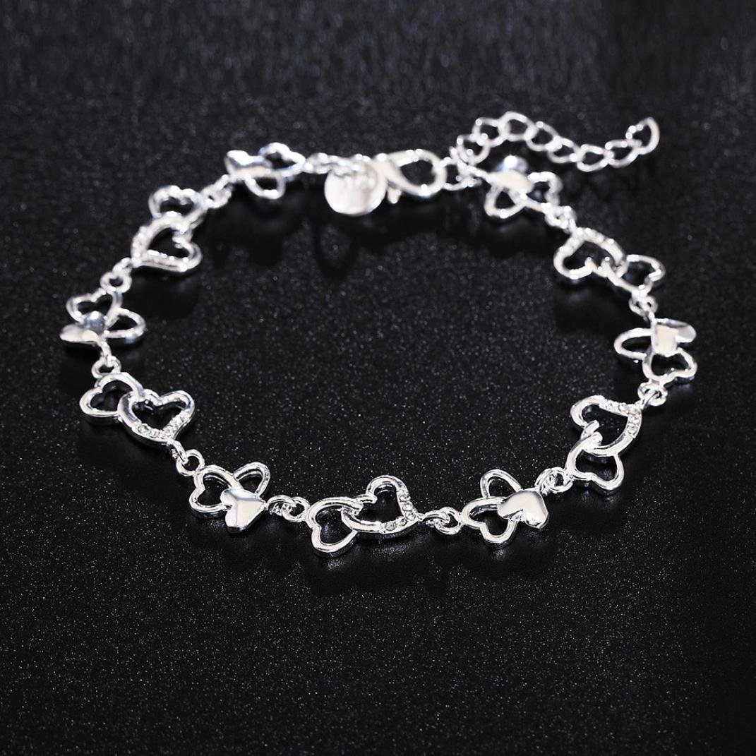 ManxiVoo 1PC Women Fashion Women Girl Infinity Created Bracelet Jewelry Gift