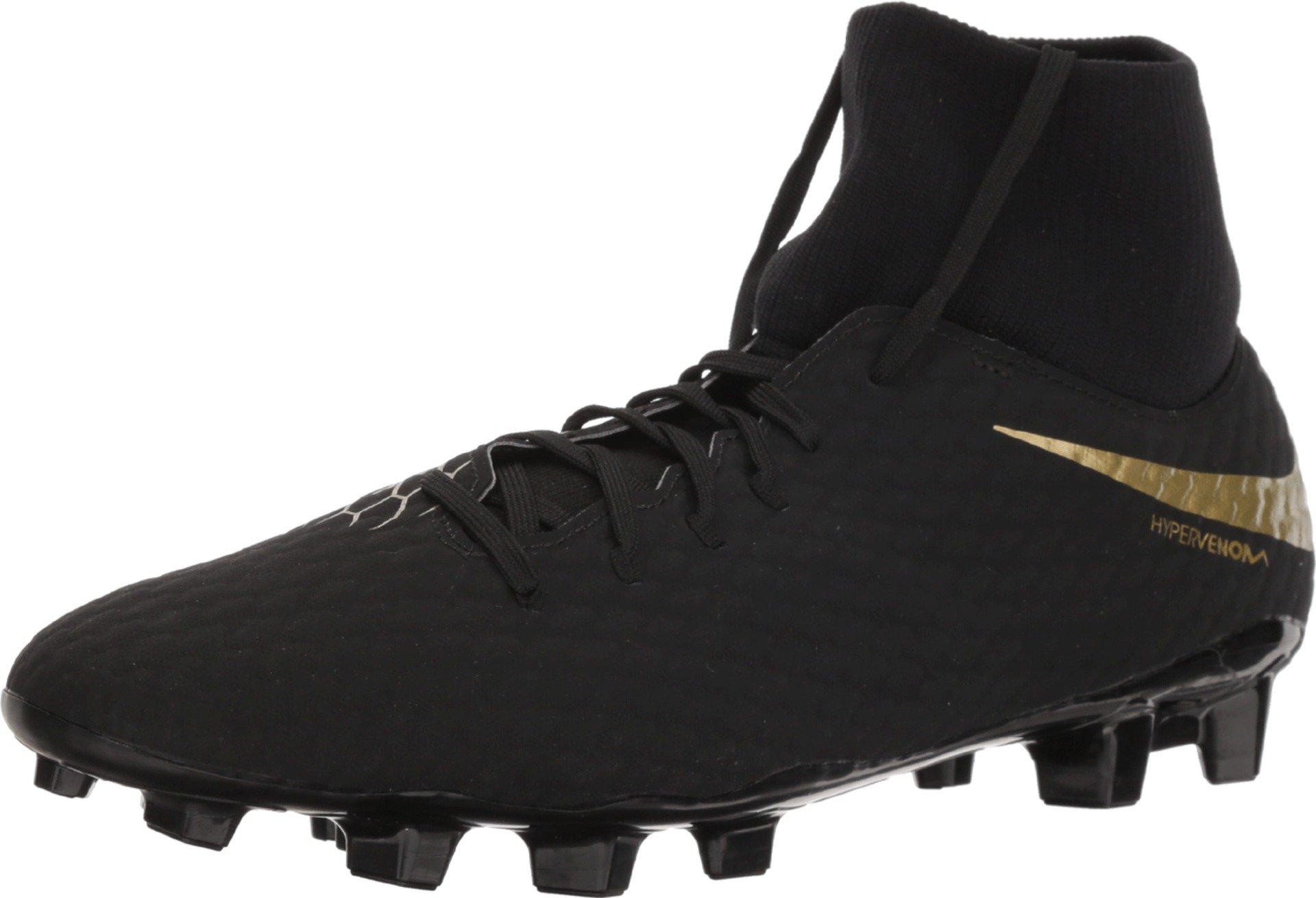 NIKE Hypervenom Phantom 3 Academy Dynamic Fit FG Soccer Cleats (6.5, Black/Gold)