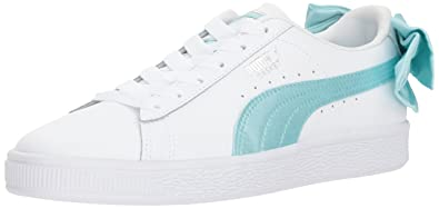 7005eb00f01 PUMA Unisex Basket Bow Jr Sneaker Island Paradise