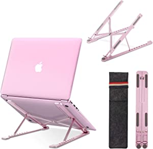 "Tilink Laptop Stand, Laptop Holder Riser Computer Stand, Aluminum 9-Angles Adjustable Ventilated Cooling Notebook Stand Mount for 10-17.3"" Laptops"