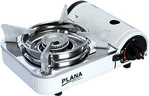 Plana Mini Portable Butane Gas Stove with Carry Case, White