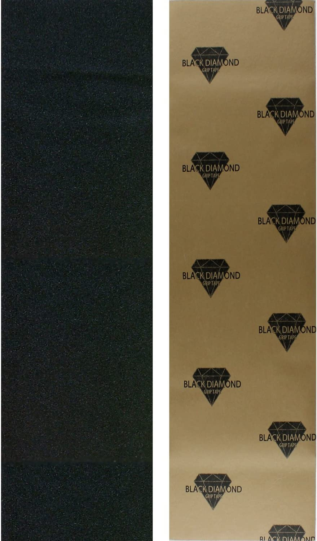 "Black Diamond Longboard Skateboard Grip Tape Sheet 10"" x 48"" Black / US"