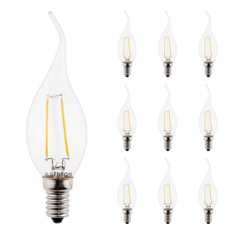 SEBSON LED Lampe E14 3W (2.5W), ersetzt 25W Glühlampe, warmweiß ...