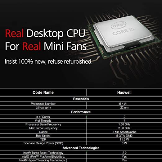 Amazon.com: ADZE Mini PC i5 Windows 10 Pro [Intel Core i5/ DDR3L 4GB/ SSD 120GB/ HD Graphics Family] Full 4K Dual WiFi LAN HDMI VGA 4xUSB3.0 2xUSB2.0: ...