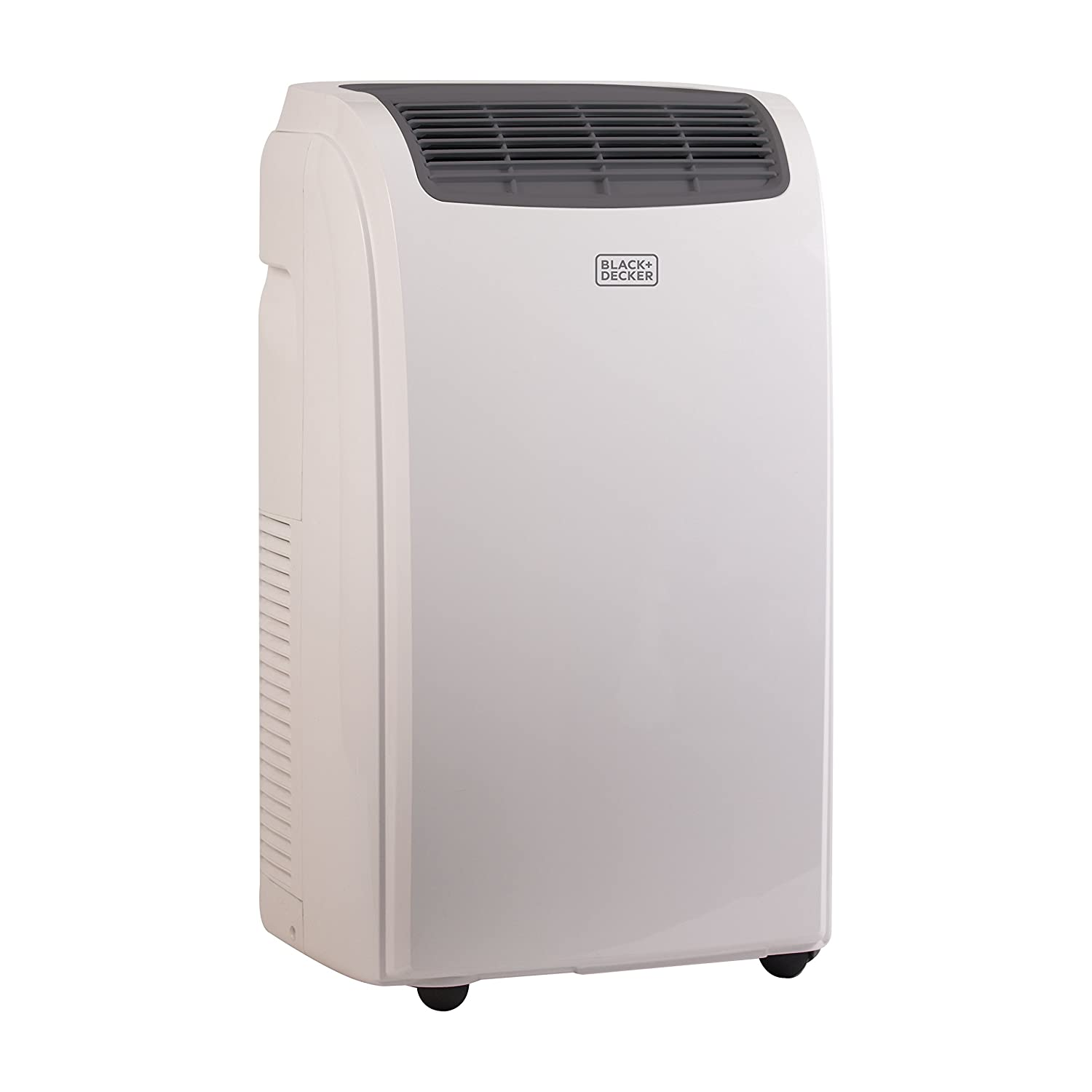 Black + Decker 8000 BTU Portable Air Conditioner Unit, Remote, LED Display, Window Vent Kit, 4 Caster Wheels, White