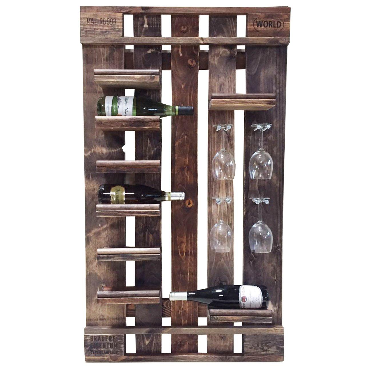 Palettenmöbel Flaschen- Wein-Regal Santa Barbara aus ippc zertifizierten Palettenholz, jedes Teil ist einzigartig und Wird in Deutschland in Handarbeit Gefertigt