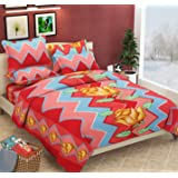 Newleaf Trends Fleece Warm Double Bedsheet with 2 Pillow Covers for Winters,Get One Free