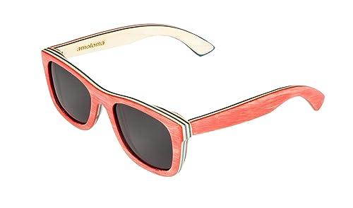 Amazon.com: Monopatín de madera anteojos de sol rojo. El ...
