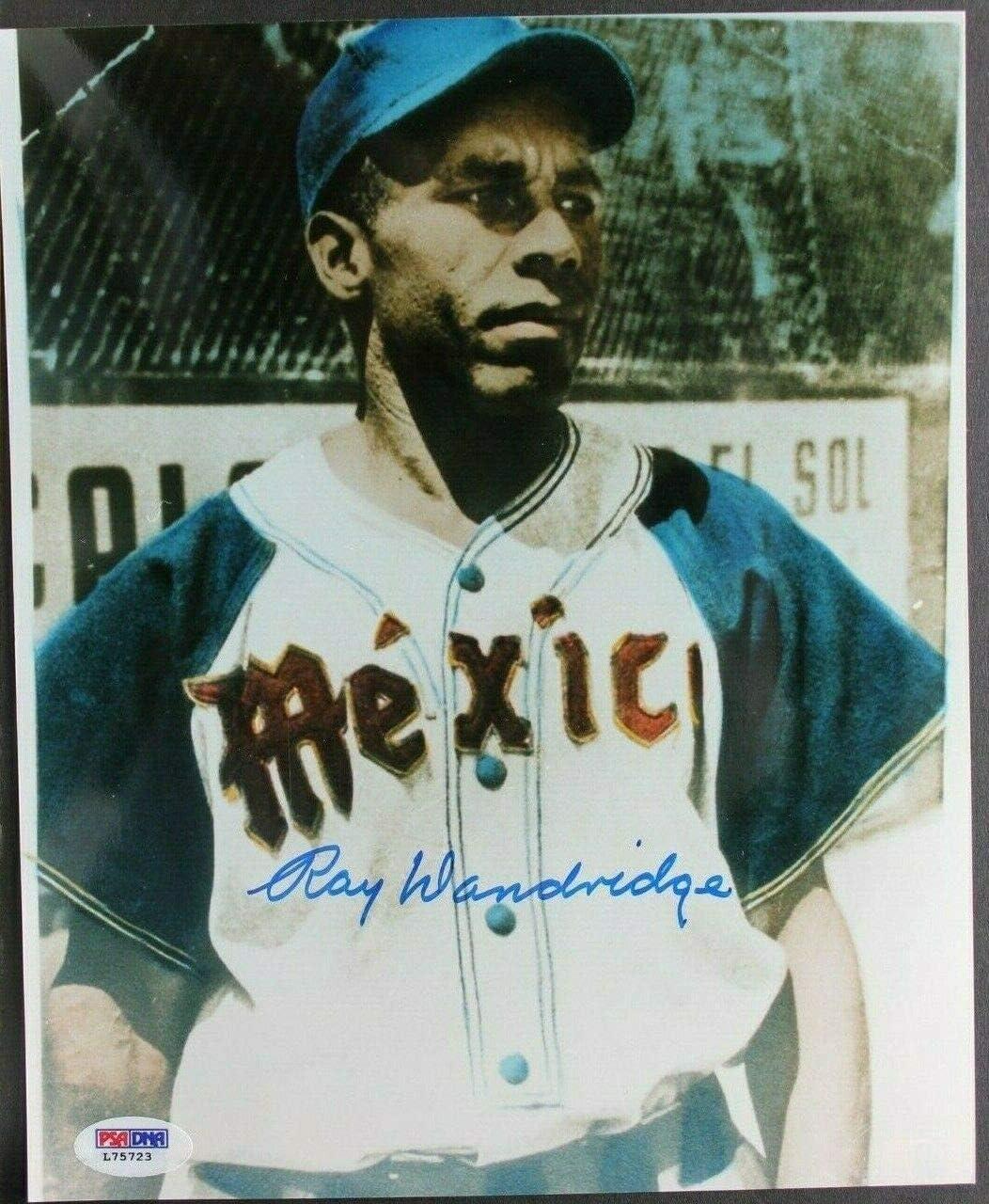 Ray Dandridge (d.1994) Negro Leagues Newark Autographed 8x10 Signed Photo PSA