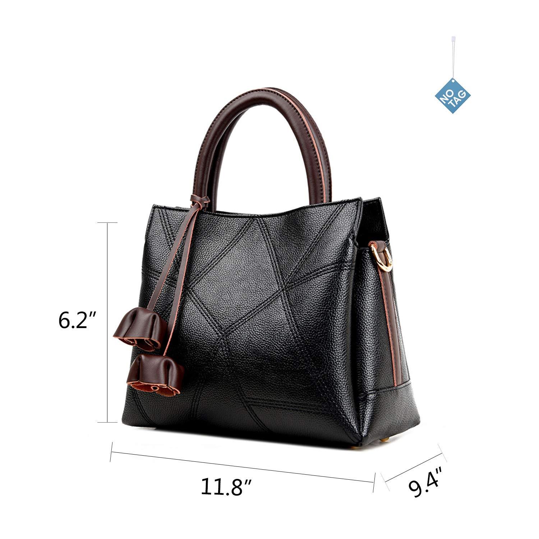e6a24f6c5a30 NOTAG Designer Handbag Leather Top Handle Handbags Women s Tote Bag Fashion  Shoulder Bag Ladies Purses and Handbags (Black)  Amazon.ca  Shoes   Handbags
