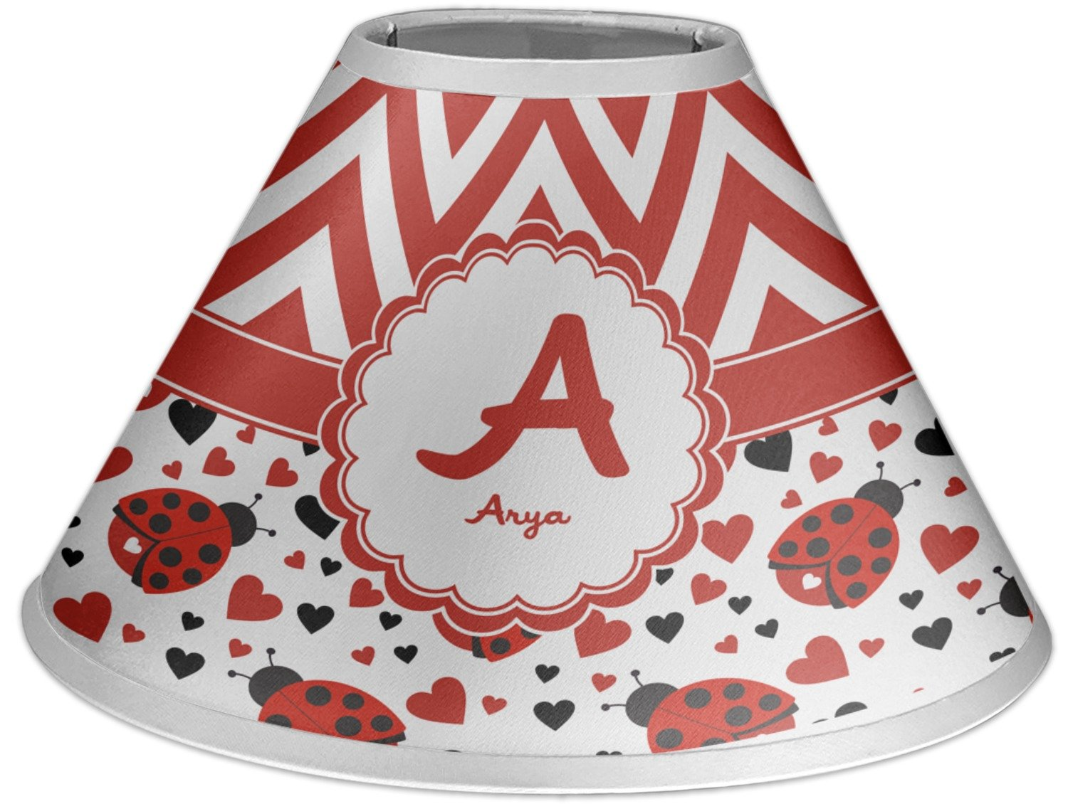 RNK Shops Ladybugs & Chevron Coolie Lamp Shade (Personalized)