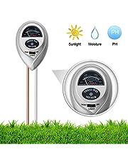 iKKEGOL 3 in 1 Soil Moisture Meter, Light and PH Acidity Tester,Soil Tester Kit for Home and Garden, Lawn, Farm, Plants, Herbs & Gardening Tools (Silver)