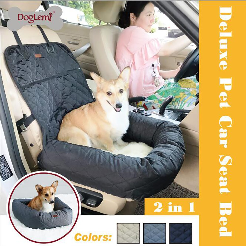 Black MMY Easy Storage Pet Booster Seat Dog Sofa Bed Carrier for Dog and Cat (black)