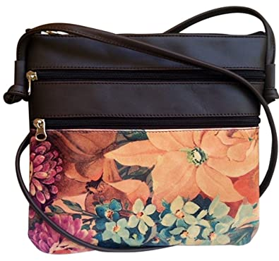 1c1b0b1ad60c Genuine Floral Leather Cross-body Bag - Argentinian Hand Crafted ...