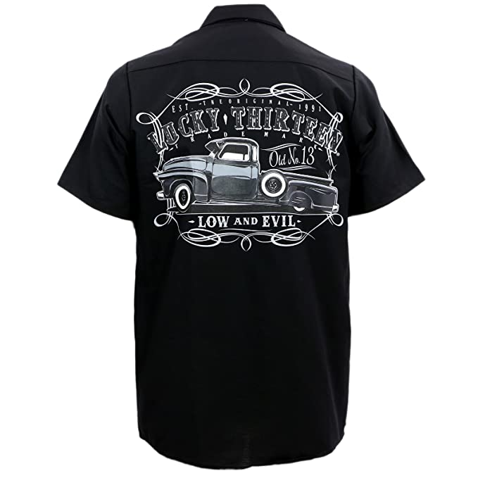 Men's Vintage Christmas Gift Ideas Lucky 13 Mens Dragger WorkShirt $47.99 AT vintagedancer.com