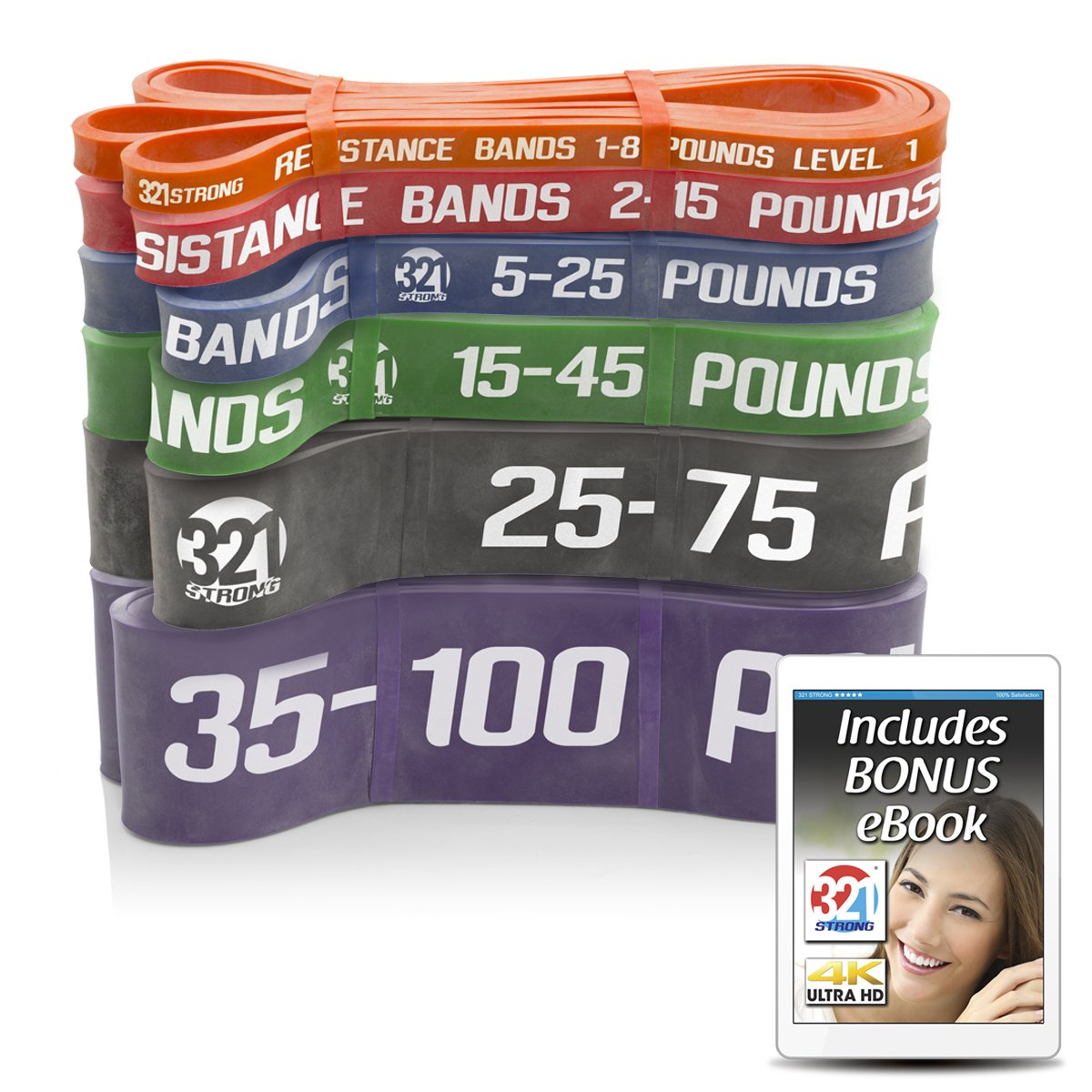 321 STRONG Exercise Resistance Bands - Complete Set