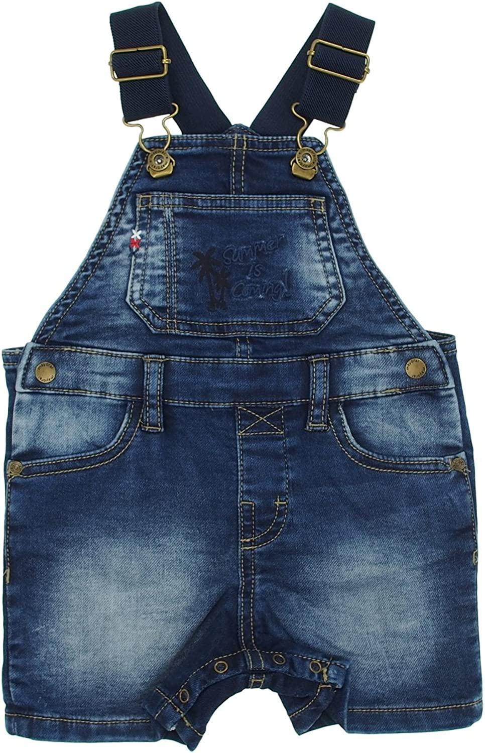 1658 Mayoral Dark Short Denim Overalls for Baby-Boys