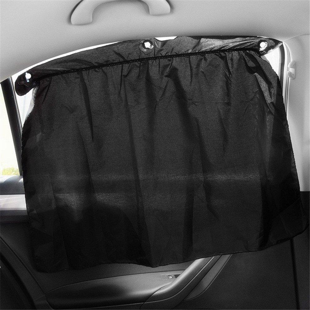GS 2PCS tendine laterali regolabile per interni auto parasole protezione UV tenda oscurante con ventosa