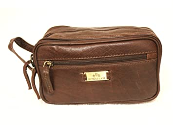 Image Unavailable. Image not available for. Colour  Rowallan Mens Vintage  Look Buffalo Leather Wash Bag Travel ... 02e99cdc4b