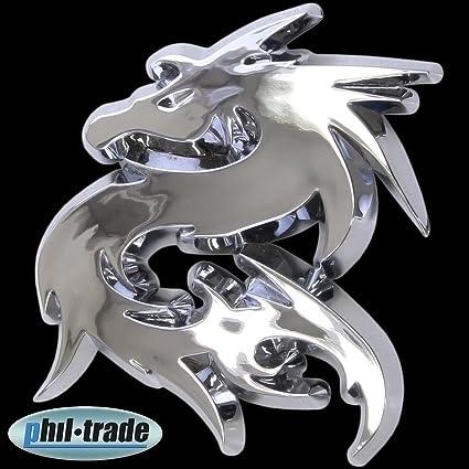 3d Emblema Cromado adhesivo Logo Drag/ón Dragon drag/ón Lindworm l012