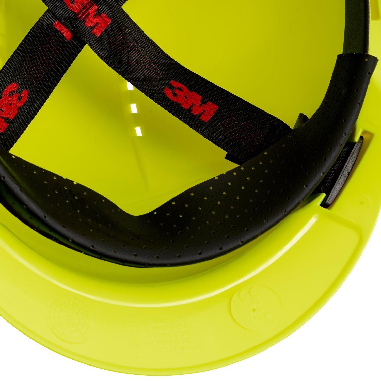 ventilato con Uvicator G3000CUV-OR arancio 3M/™ Elmetto di protezione G3000 senza cricchetto e fascia antisudore in plastica