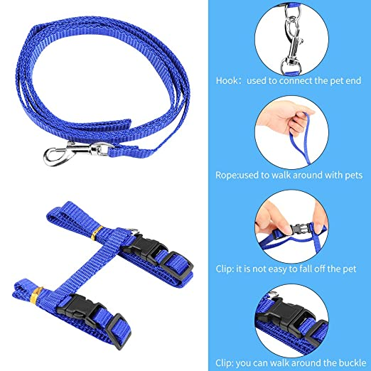 Pet Supplies : KAISHUITANGJIBA Cat Harness, Durable Leash Heavy Duty & Adjustable Cat Collar Anti-Twist Cat Leash Harness for Small Medium & Large Cats ...