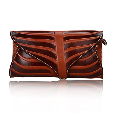 be319c9ba1 Pijushi Leaf Designer Handbags Embossed Leather Clutch Bag Cross Body Purses  22290 (One Size