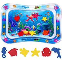 Niskite Baby Toys 0-3 6 Months, Inflatable Tummy Time Water Play Mat for Infant...