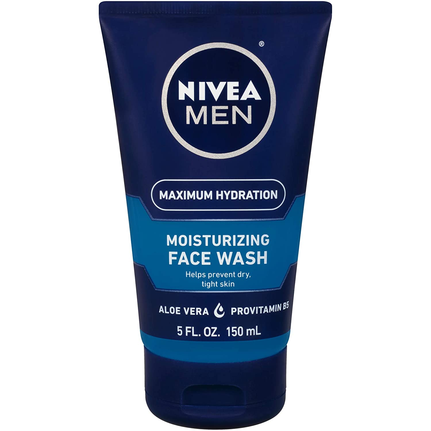 NIVEA Men Maximum Hydration Moisturizing Face Wash - Helps Prevent Dry Tight Skin - 5 fl. oz. Tube