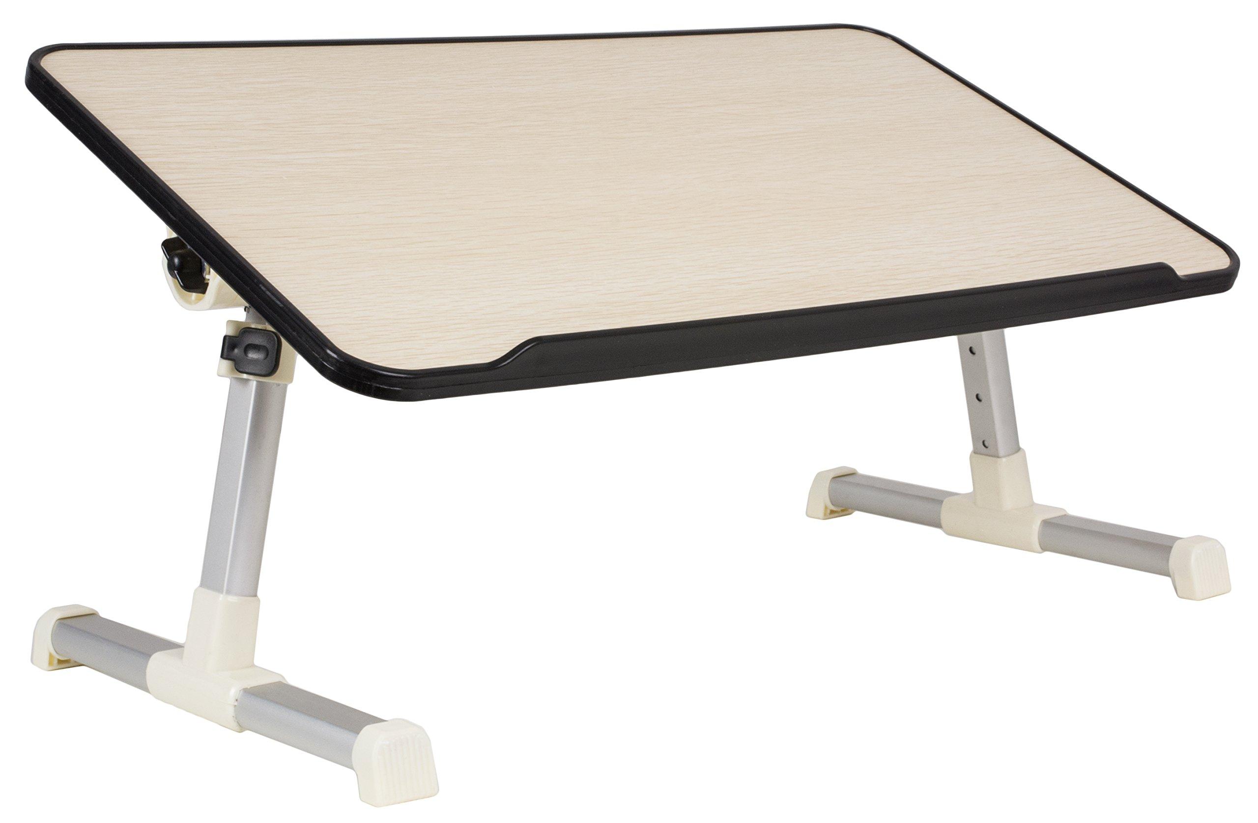VIVO Height Adjustable Tilting Laptop Workstation Bed Tray, Folding Portable Book Table Stand (DESK-L-V020)