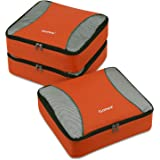 Gonex Packing Cubes 3 Set Travel Luggage Packing Organizers Pouches(Orange)
