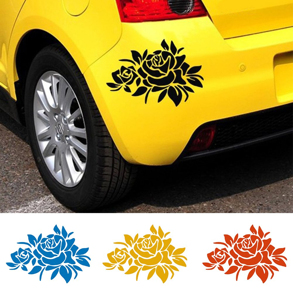 Buy generic red flower car stickers cover scratches vehicle bumper window decal and sticker for auto decoration popular styling online at low prices in